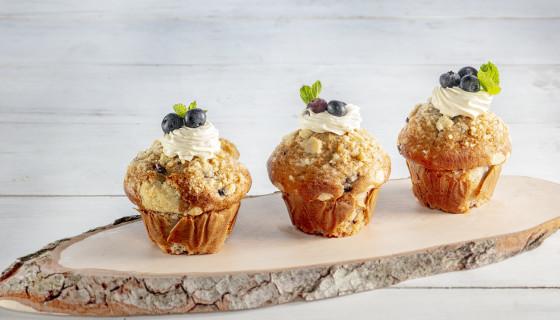 Feestelijke blueberry muffin