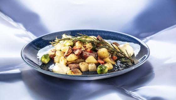 Ovenschotel met vergeten groenten